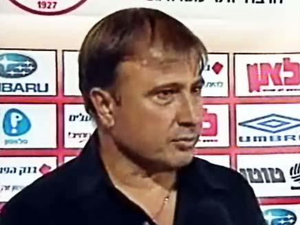 אלישע לוי מאמן מכבי חיפה בכדורגל (צילום: ספורט 5)