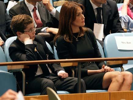 קרלה  ברוני ולואיס סרקוזי (צילום: AP)
