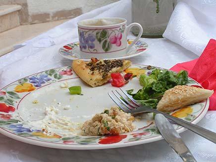 צלחת עם שאריות של אוכל - אור גלזר (צילום: חדשות 2)