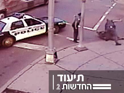 """תיעוד - אלימות שוטרים בארה""""ב (צילום: פוקס)"""