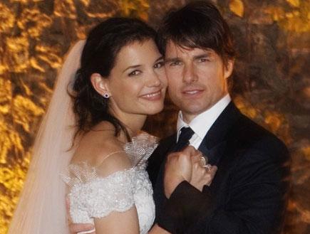 החתונה של תום קרוז וקייטי הומלס (צילום: Handout, GettyImages IL)