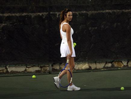 מרינה קבישר ודודי סלע בטניס, פפראצי (צילום: אורי אליהו)