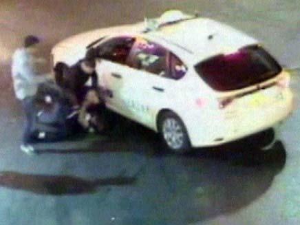 אלימות בתחנת דלק בנס ציונה (צילום: חדשות 2)