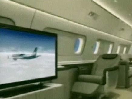 מטוס חדש של התעשייה האווירית (צילום: חדשות 2)