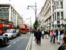 לונדון: רחוב אוקספורד (צילום: mako)