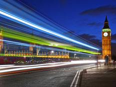 לונדון: ווסטמיניסטר בלילה
