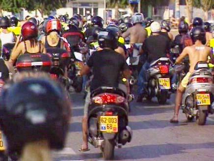 הפגנת האופנוענים (צילום: חדשות 2)