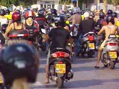 הפגנת האופנוענים