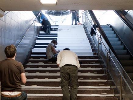 מדרגות פסנתר (צילום: חדשות 2)