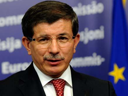 שר החוץ הטורקי דאבוטולו (צילום: AP)