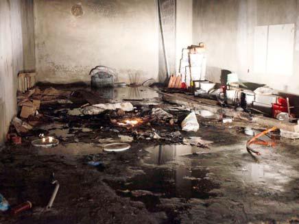 פיצוץ מחסן תחמושת של חיזבאללה בצור (צילום: AP)