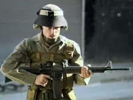 חייל ישראלי מתוך סדרה בטלויזיה הטורקית (צילום: YouTube)