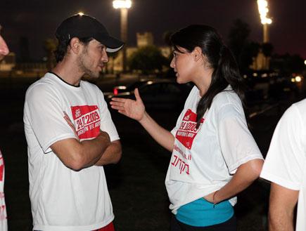 מירוץ נייקי - סיון קליין ואמיר פיי גוטמן (צילום: אורי אליהו)