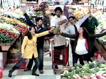 מחזמר בסופרמרקט (צילום: חדשות 2)