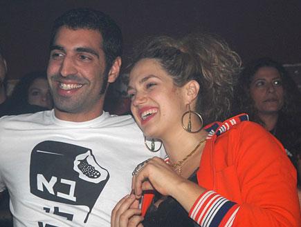 מרינה מקסימיליאן בלומין והחבר (צילום: אלעד דיין)