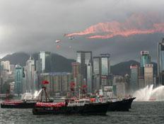מבט מהים על דאון טאון הונג קונג (צילום: China Photos, GettyImages IL)