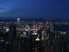 הונג קונג בלילה (צילום: China Photos, GettyImages IL)