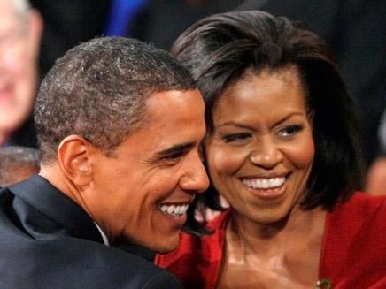 בני הזוג אובמה - רק נראים מאוהבים? (צילום: רויטרס)
