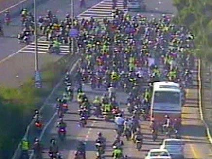 מחאת האופנוענים (צילום: חדשות 2)