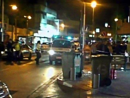 זירת הרצח בתל אביב (צילום: חדשות 2)