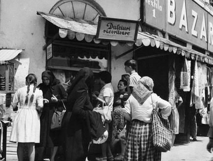 שוק בבוקרשט רומניה, 1960