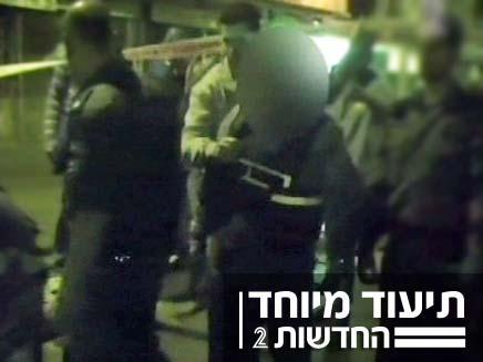 שחזור הרצח בשכונת התקווה (צילום: חדשות 2)