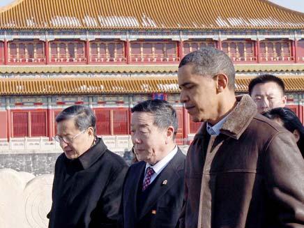 אובמה בסין (צילום: רויטרס)