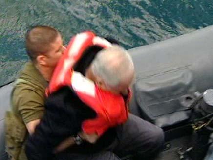 בנימין נתניהו מועד בסירה (צילום: חדשות 2)