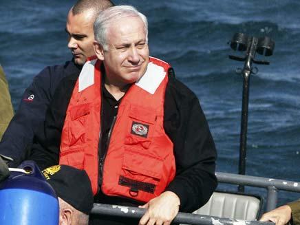 בנימין נתניהו בסיור עם חיל הים (צילום: חדשות 2)