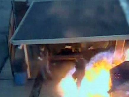 פיצוץ במזקקה ביוטה (צילום: חדשות 2)