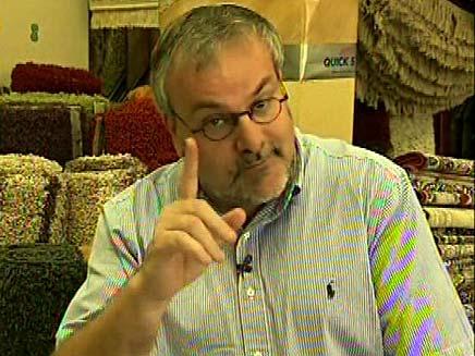 מנחם והשטיח (צילום: חדשות 2)