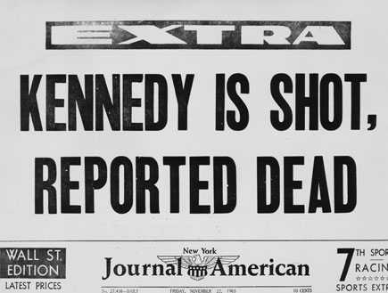 Kennedy is shot (צילום: Three Lions, GettyImages IL)