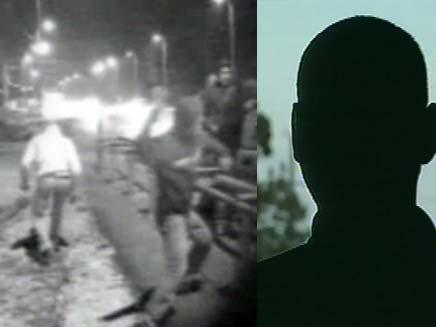 """תקיפה של עובדי מע""""צ (צילום: חדשות 2)"""