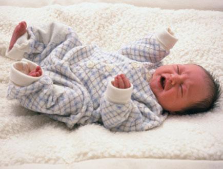 תינוק בוכה (צילום: istockphoto)