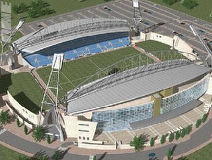 האצטדיון החדש בנתניה. יקום ב-2012 (צילום: מערכת ONE)