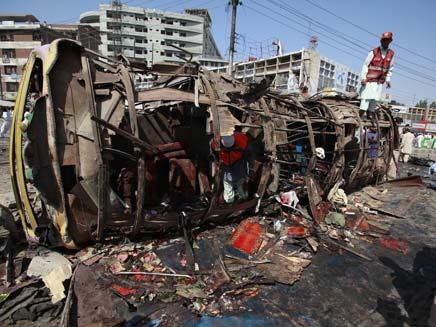 אוטובוס הילדים עלה באש. ארכיון (צילום: רויטרס)