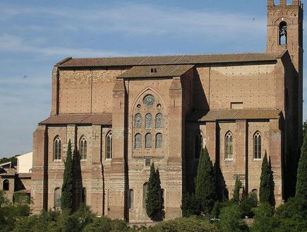 כנסיית סן דומניקו בסיינה, טוסקנה (צילום: ויקיפדיה)