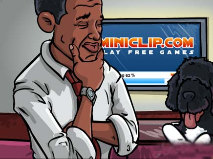 ברק אובמה במשחק מחשב (צילום: miniclip.com)