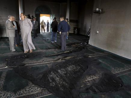 מסגד שרוף בשכם (צילום: חדשות 2)