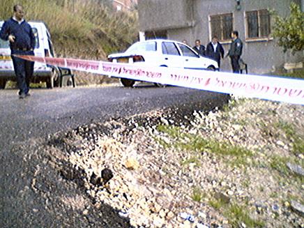 זירת הרצח בכפר נחף (צילום: פוראת נסאר)