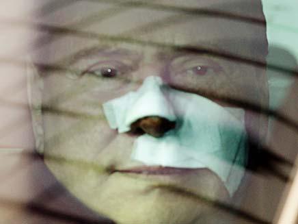 ברלוסקוני שוחרר מבית חולים (צילום: חדשות 2)