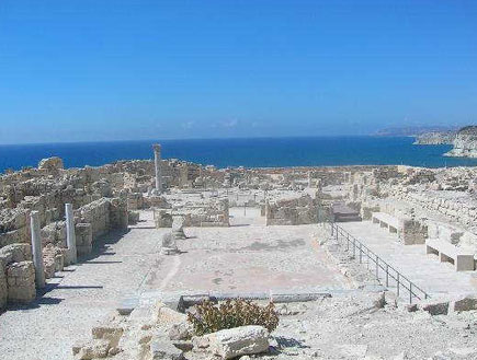 האתר הארכיאולוגי קוריון ליד לימסול, קפריסין