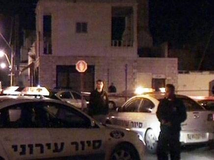 זירת הרצח, בלוד (צילום: חדשות 2)