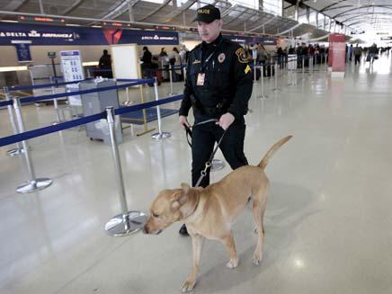 אבטחה מוגברת בנמל התעופה בדטרויט (צילום: חדשות 2)
