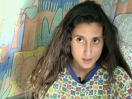 ילדה שניצלה משפעת החזירים (צילום: חדשות 2)