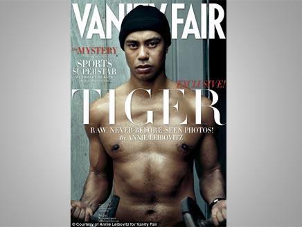 """טייגר וודס על שער מגזין """"ואניטי פייר"""" (צילום: אנני ליבוביץ')"""