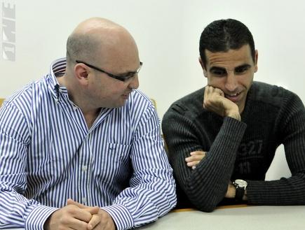 """באדיר עם לובין בביה""""ד. מכה קשה (אלעד ירקון) (צילום: מערכת ONE)"""