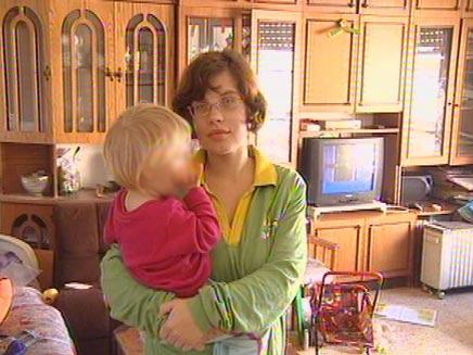 יוליה גודימוב , אשתו של הנרצח בקריית חיים (צילום: חדשות 2)