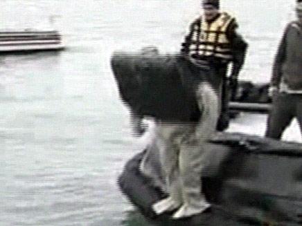 המצאת מזוודה צפה (צילום: חדשות 2)