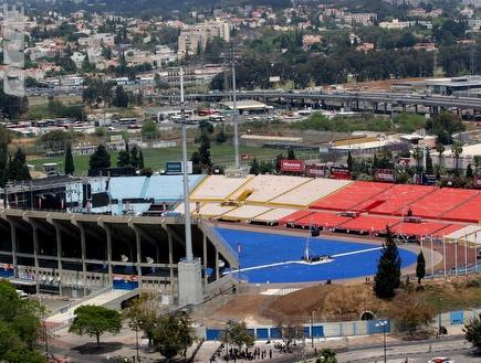 """אצטדיון ר""""ג. הפסקת חשמל (שי לוי) (צילום: מערכת ONE)"""